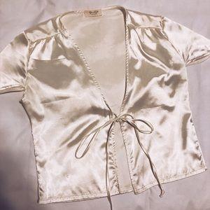 Brandy Melville/John Galt Silk Tie Shirt WORN ONCE